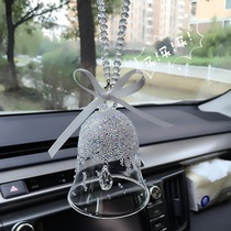 Christmas Crystal Car hanging Crystal Bell wind Bell car pendentif car snowflake diamond ornements décorations