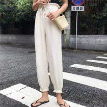 高个子女装170-175欧美灯笼裤灯楼裤宽松韩版罗卜裤2018新款宽松