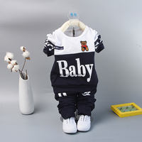 Baby spring and autumn two-piece cotton newborn clothes baby clothes boys and girls out of service 0-2-3 years old
