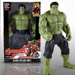 動漫手辦模型玩具復仇者發光Hulk美國隊長雷神綠巨人鋼鐵俠人偶男