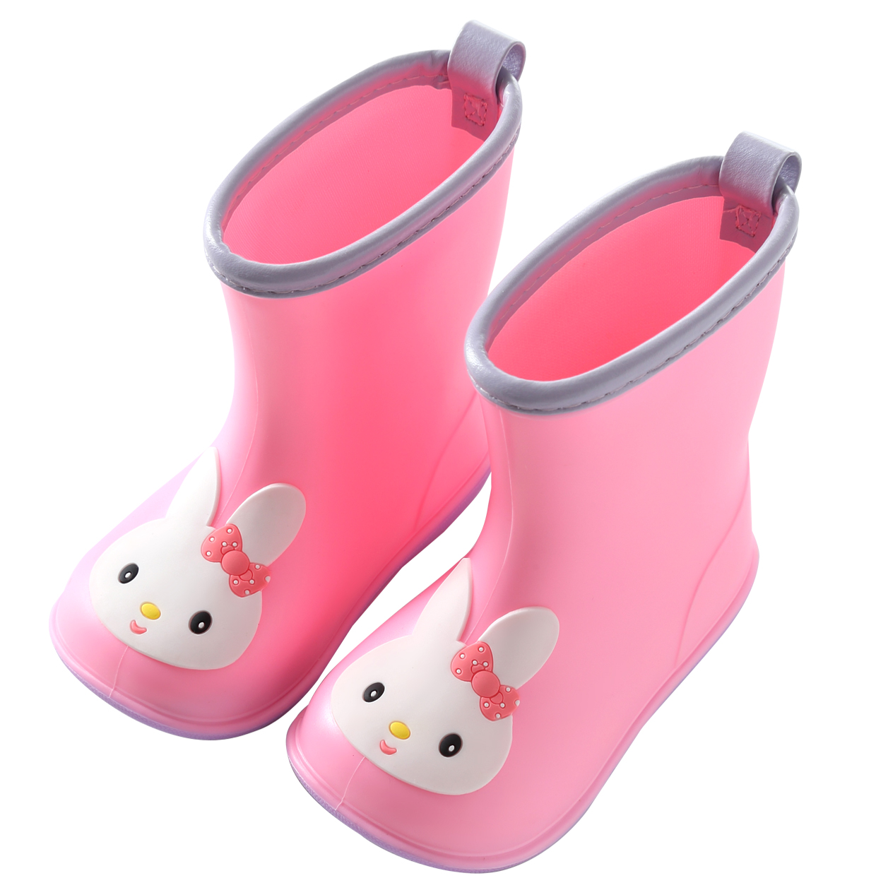 华香网红儿童雨鞋小黄鸭卡通雨靴男女宝宝幼儿胶鞋可爱学生防滑鞋