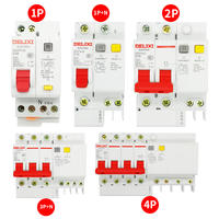 Delixi air switch with leakage protector 32A 2P 63A household DZ47LE leakage circuit breaker