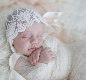 婴儿童女宝宝新生百天周岁刺绣蕾丝帽公主帽透气镂空花朵帽子y78