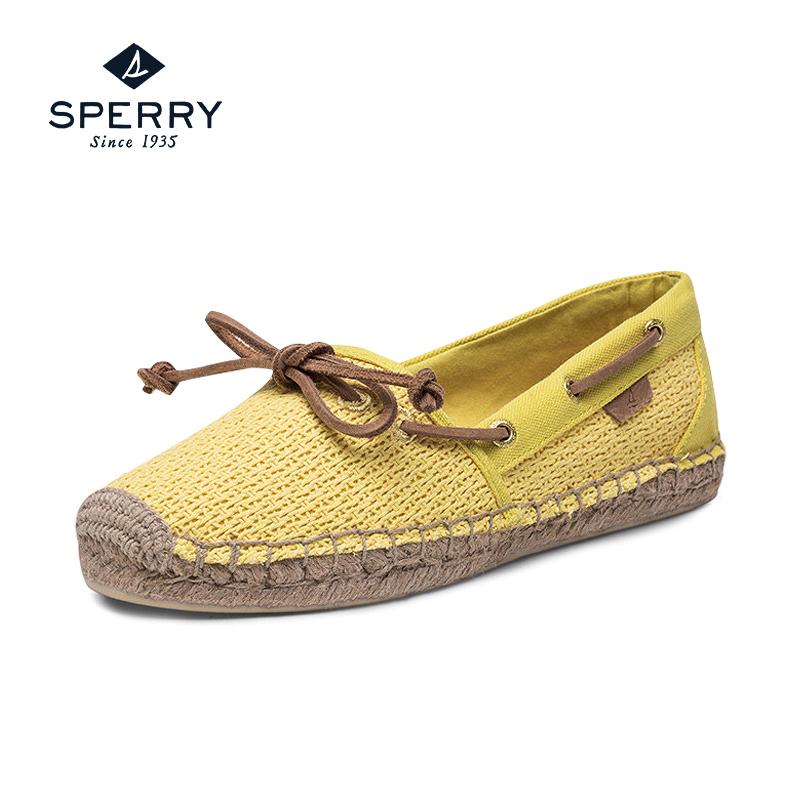 编织帆布平底鞋
