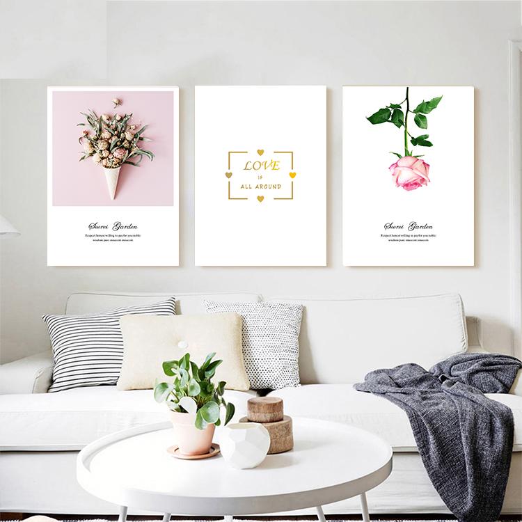 客厅三联挂画花