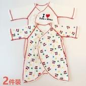 3个月婴儿爬爬服和尚衣 蝶衣宝宝纯棉连体哈衣2件装 新生儿春夏款