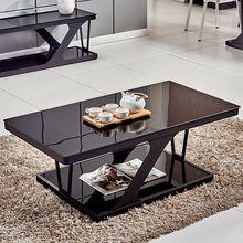 茶几简约现代钢化玻璃茶几 客厅家用小户型创意多功能电视柜桌子