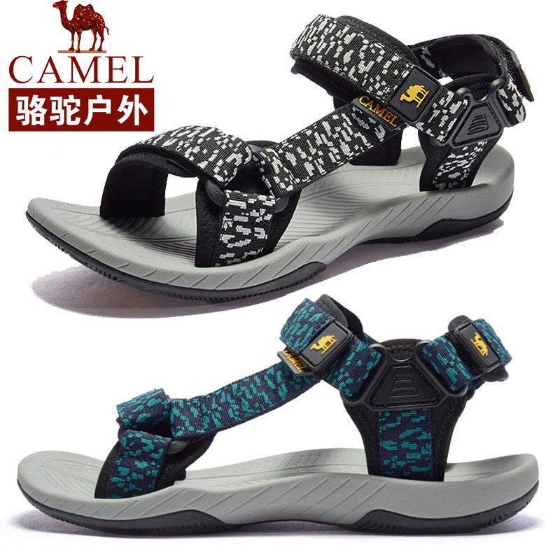 骆驼凉鞋男士2018夏季越南皮韩版学生罗马户外运动休闲男沙滩凉鞋