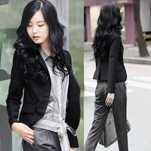 Spring and Autumn New Kind of Women's Decorated Body Small Suit Korean Edition Short Slim and Long Sleeve Professional Small Suit Coat