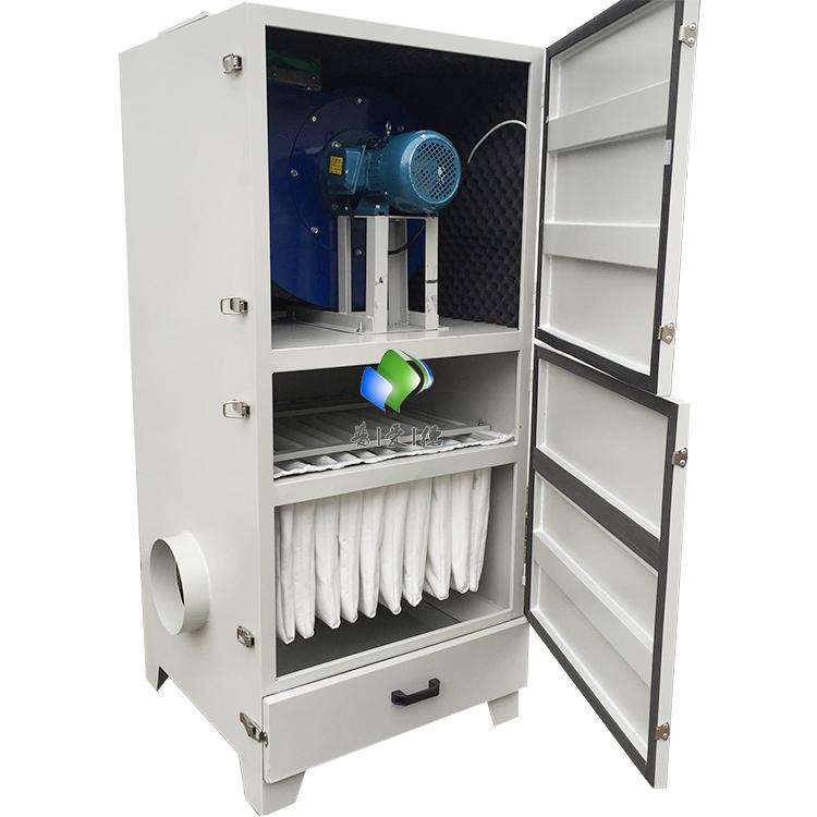 不锈钢单机除尘器 工业PL单机除尘器 滤筒滤芯单机除尘器加脚轮