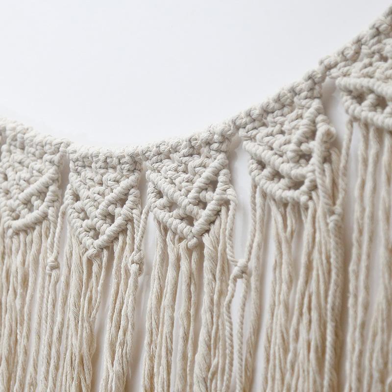 北欧装饰手工编织异域图案挂毯床头挂饰婚礼民宿装饰