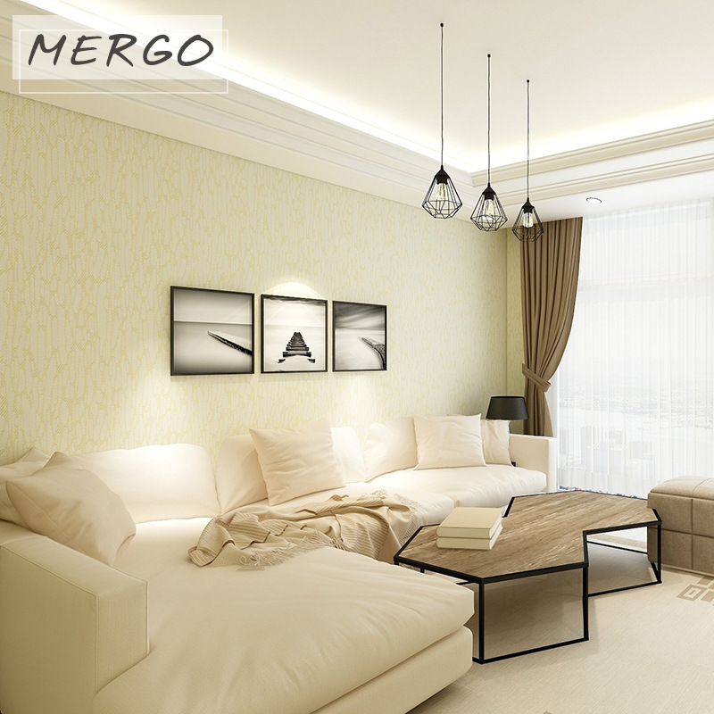 无缝素色墙布 现代简约提花 酒店KTV家装壁布