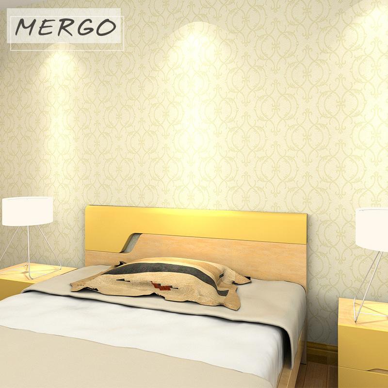 秋冬新品三色可选  现代墙布 无缝壁布 卧室隔音装修墙布