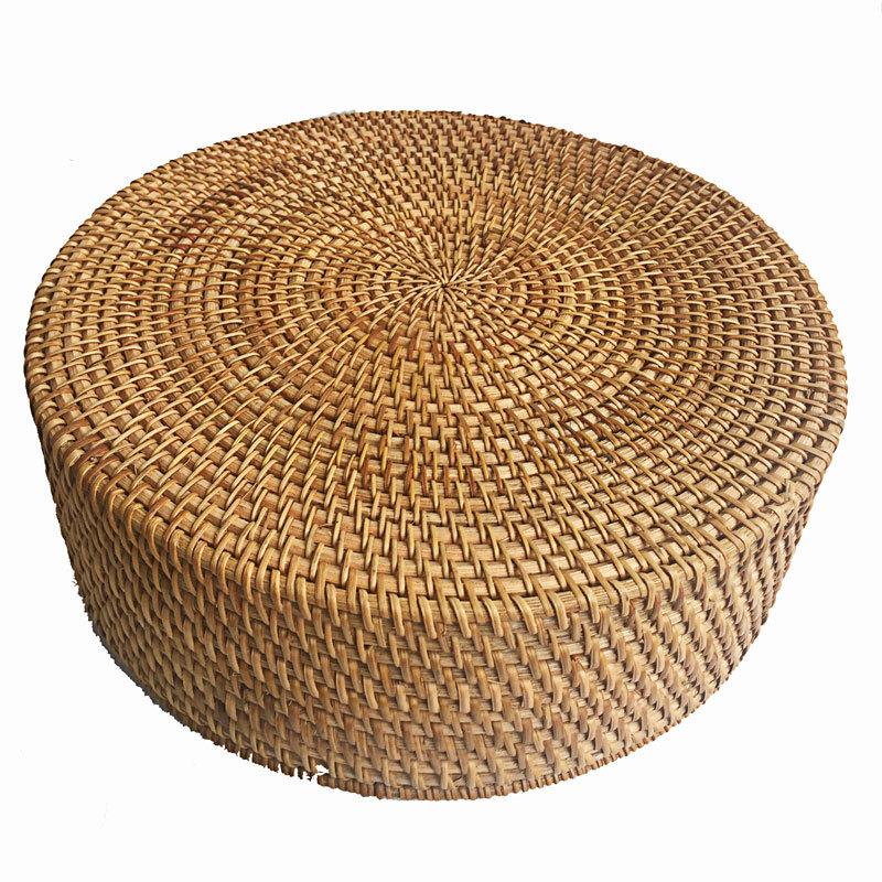 越南秋藤编果篮收纳筐创意手工编织收纳盒客厅桌面茶几零食收纳盒