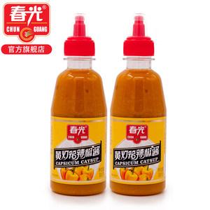 春光食品 海南特产 调味传统制作工艺黄灯笼辣椒酱300g*2瓶挤挤装