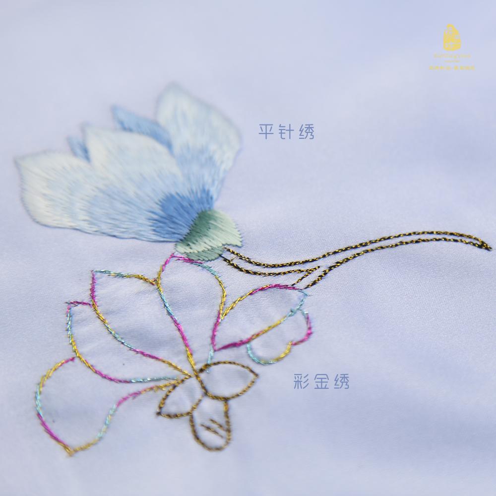 蜀绣手帕方巾桑蚕丝手工刺绣桑蚕丝面料成都特色礼品送老外中国风
