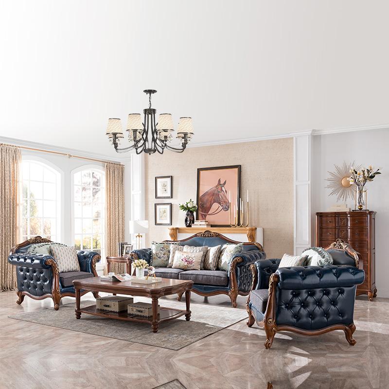 威灵顿家具真皮沙发X603-21