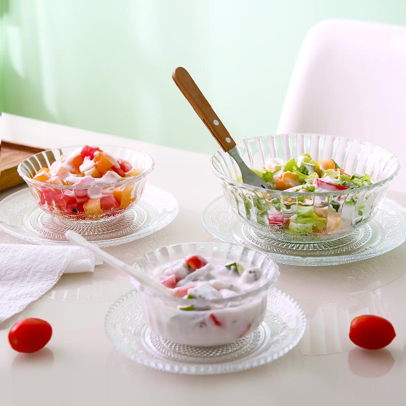 透明玻璃碗套装餐具