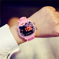 Shaking network red with the watch 3-12 years old children small children baby child girl cartoon jelly candy color