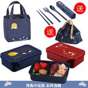 日本ASVEL日式单层饭盒便当盒 可微波炉塑料 儿童 可爱490ML