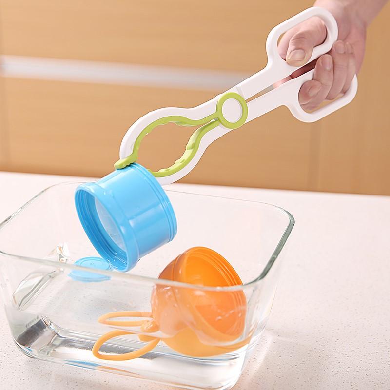 婴儿宝宝奶瓶夹加长手柄喂奶夹奶瓶的夹子耐高温防滑奶嘴防烫夹子