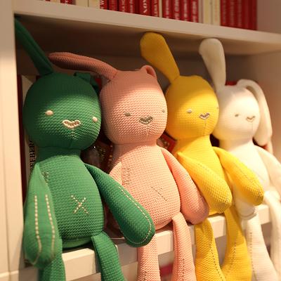 可咬安抚兔子公仔毛绒玩具婴儿睡觉抱枕布娃娃玩偶女孩小宝宝礼物