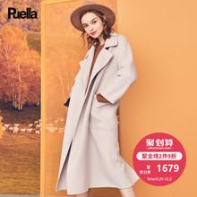 长款斗篷外套2018冬季新品毛呢面料气质双排扣大衣韩版潮女外搭潮