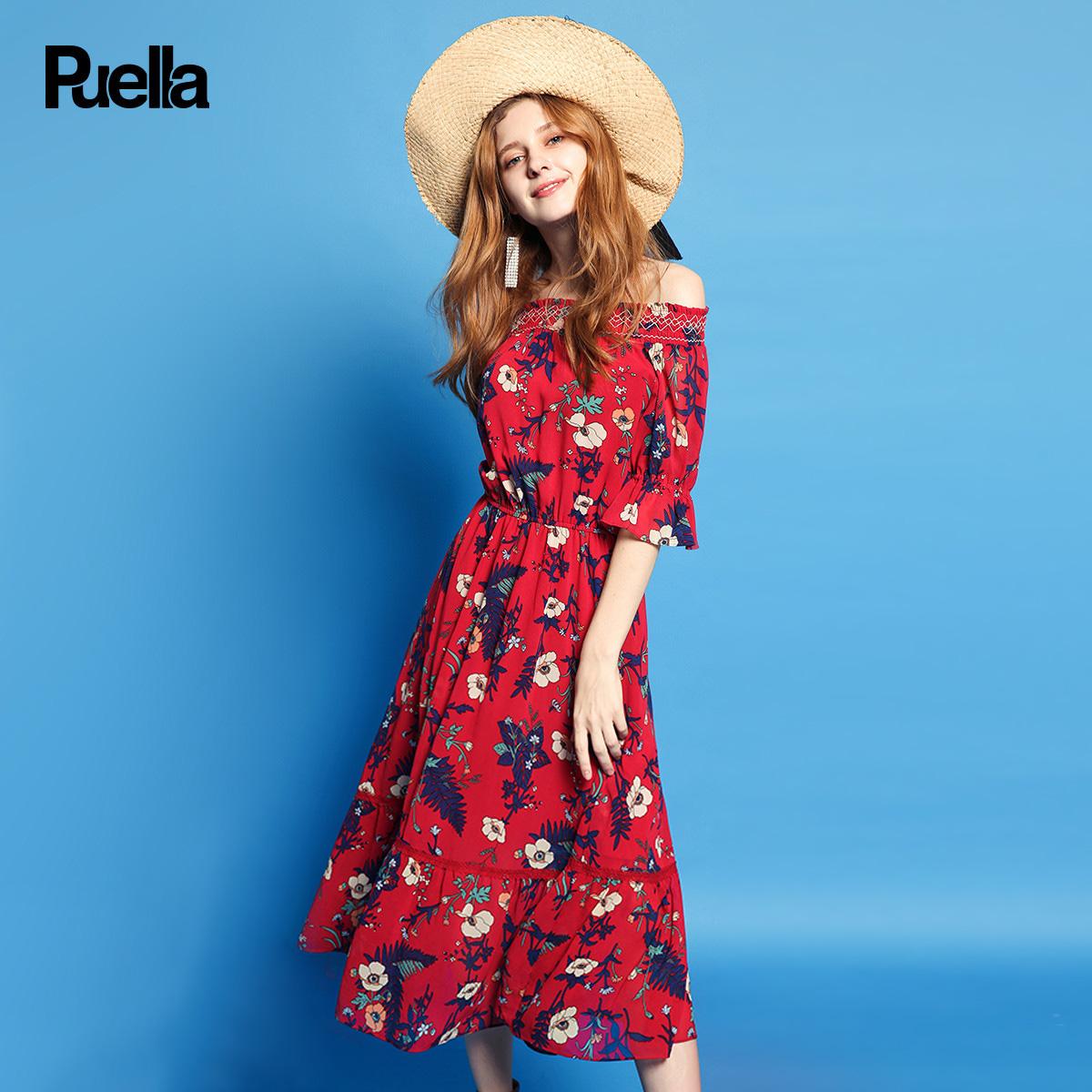 花朵夏季连衣裙