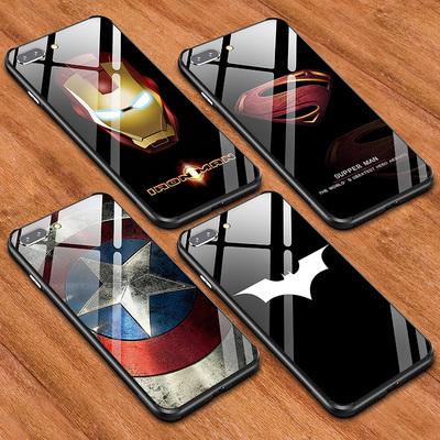 美国队长P苹果7plus手机壳iphone6蝙蝠侠6s男XS玻璃X套8钢铁侠MAX
