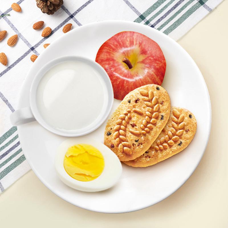 亿滋焙朗早餐饼300克6盒粗粮谷物坚果牛奶味饼干休闲零食品