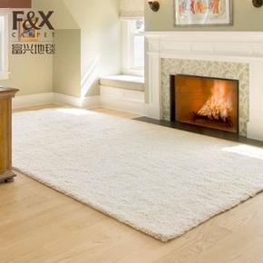 地毯客厅茶几垫长毛儿童房满铺卧室块毯床边毯榻榻米现代简约定制