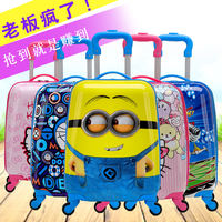 Training class gift box children's trolley case cartoon suitcase primary school boarding 161019 million wheeled suitcase