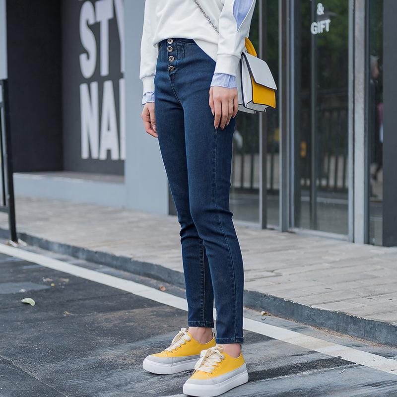 蓝若水牛仔裤