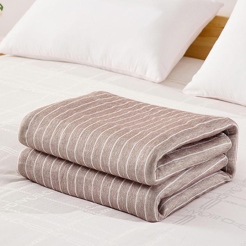 LOVO家纺床上用品简约单双人安全双温双控电热毯地暖垫家用
