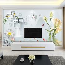 电视背景墙纸5d立体简约现代客厅装饰壁画8d凹凸大型无缝壁纸壁布