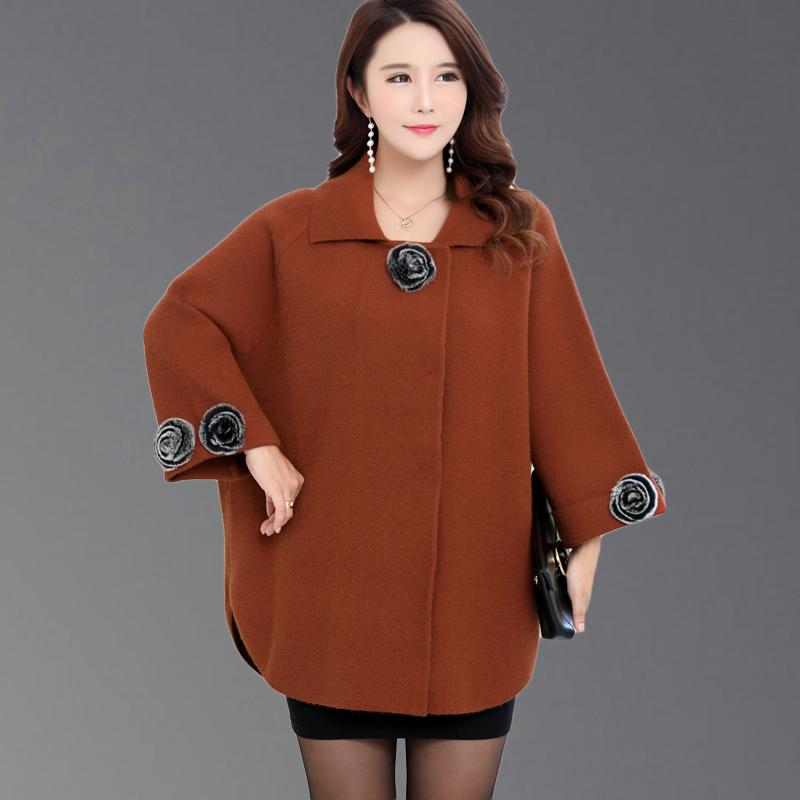 200斤胖妈妈装春秋毛衣外套加肥加大蝙蝠袖中年女装大码上衣胖MM