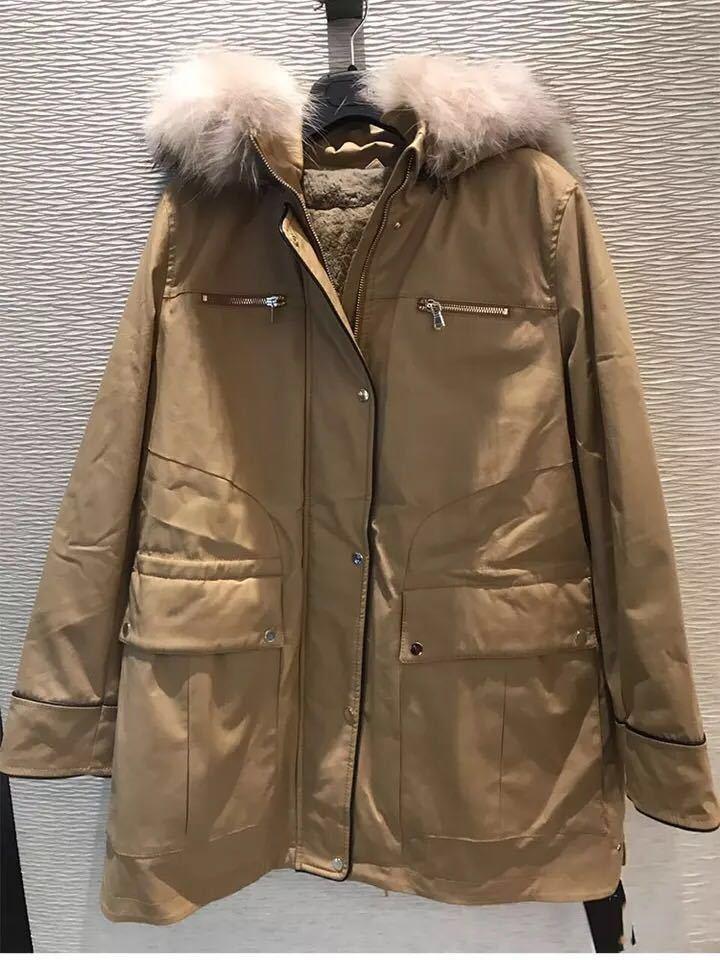 新颖哥弟特正品国内代购2018秋冬新款獭兔毛皮草两件套连帽外套女