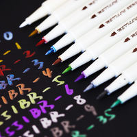Metal brush Pearlescent soft pen Paint pen color marker DIY album pen Color pen