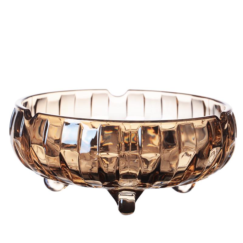欧式水晶玻璃烟灰缸多功能潮流个性创意时尚圆形烟缸餐厅酒店家用
