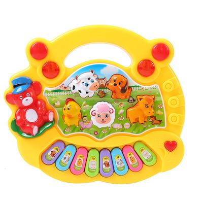天天特价卡通动物农场音乐琴宝宝启蒙早教琴电子琴益智琴儿童玩具销量排行