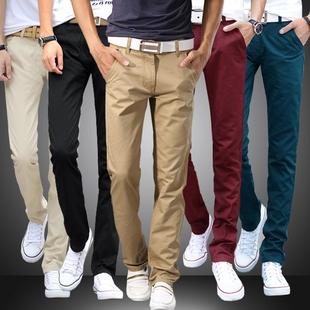 休闲裤男 秋青年男士牛仔裤子修身 直筒韩版秋季厚款纯棉长裤男裤