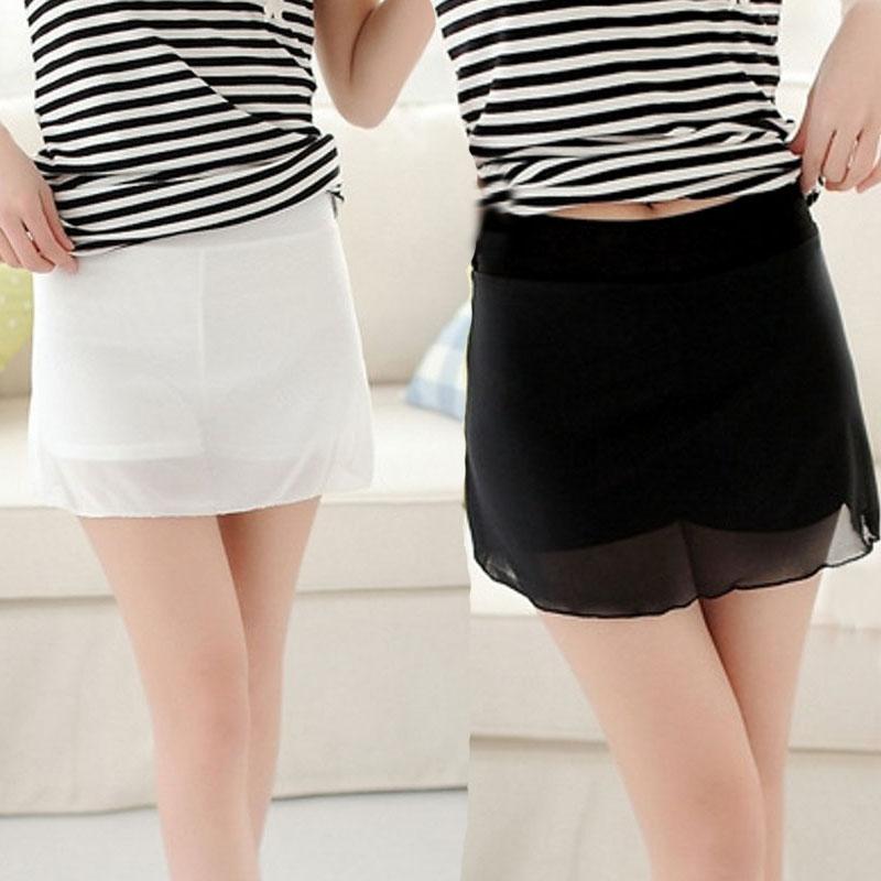黑纱网裙裤