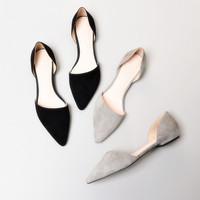 羊皮休闲平跟鞋