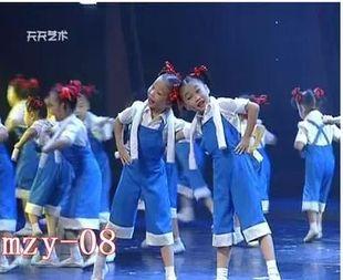 小荷风采劳动最光荣演出服背带裤套装儿童表演少儿舞蹈服大红花