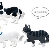 NUNNUN ultra cute cat refrigerator tile hook creative Korean office small computer whiteboard fixed with