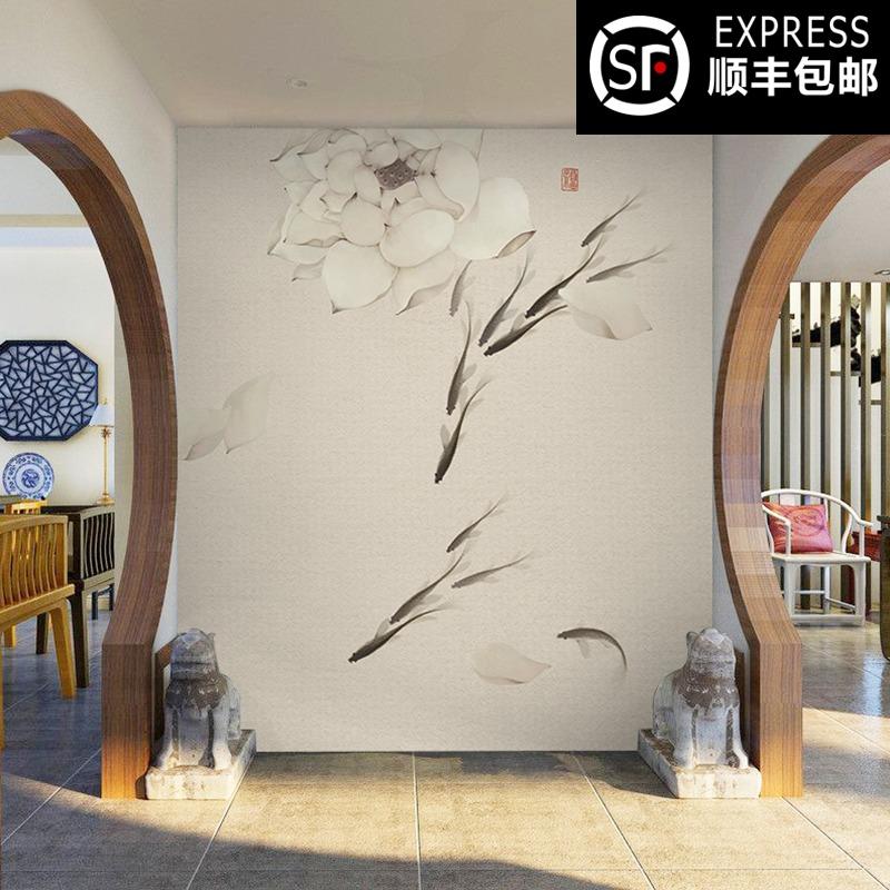 现代中式素色墙纸