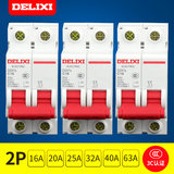 Delisi small circuit breaker home C-type 2P bipolar 16A20A25A32A40A63A household air switch