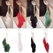 韩国优雅气质超仙大小珍珠串珠长款耳环女耳钉耳坠耳饰饰品吊坠