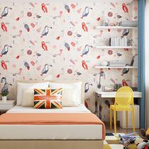 纯纸墙纸温馨卧室客厅电视背景墙壁纸美式田园新古典正品约克