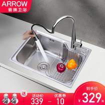 洗菜池单独水槽洗碗盆不锈钢水槽洗手盆304全新家用洗菜盆